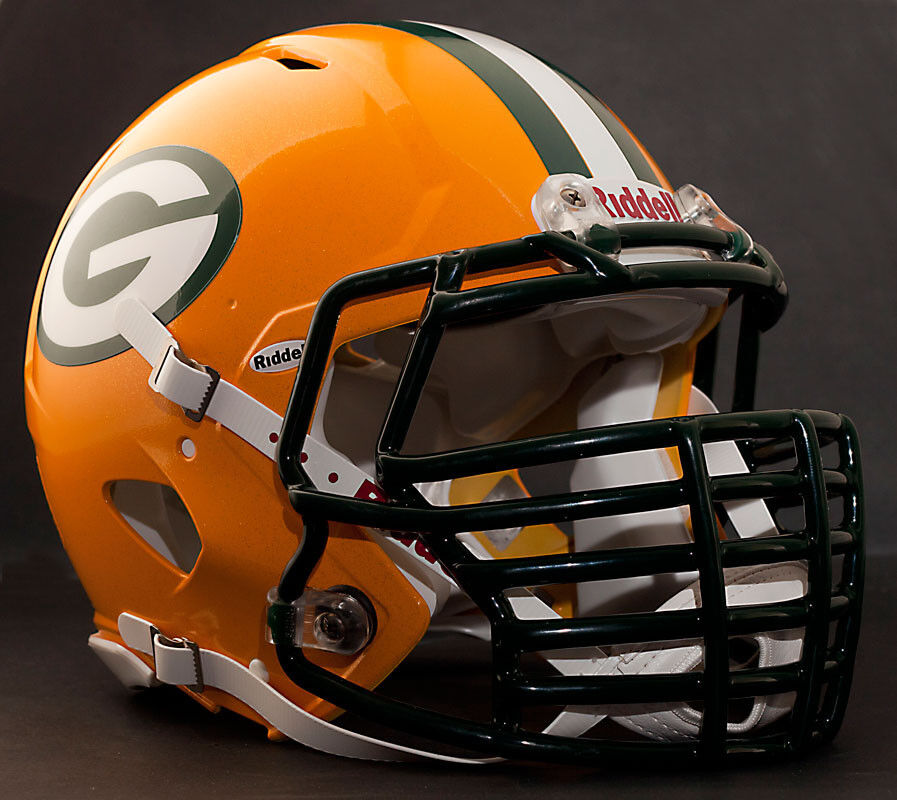 Football Helmet Grill : Green bay packers nfl riddell speed football helmet with