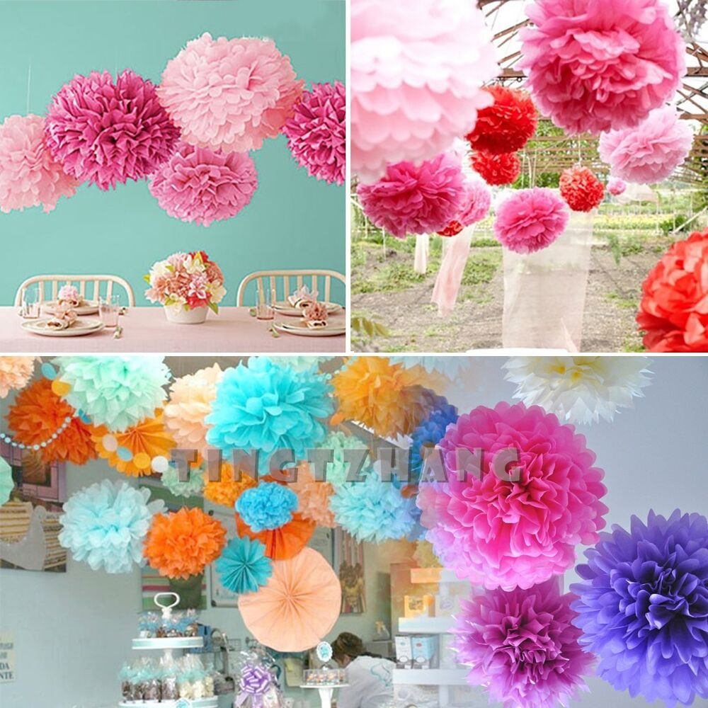 1pcs wedding party hanging tissue paper pom pom lantern for Decoration 4