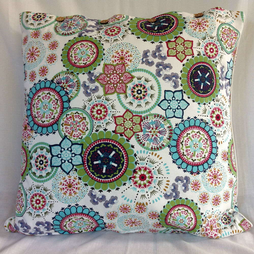 Cushion Cover Large Wildflower Blue Euro Pillow Sham