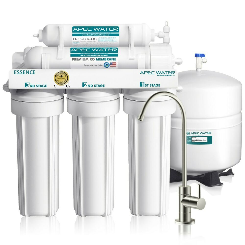 apec water systems 5 stage 50 gpd reverse osmosis ro water filter system roes50 ebay - Water Filter