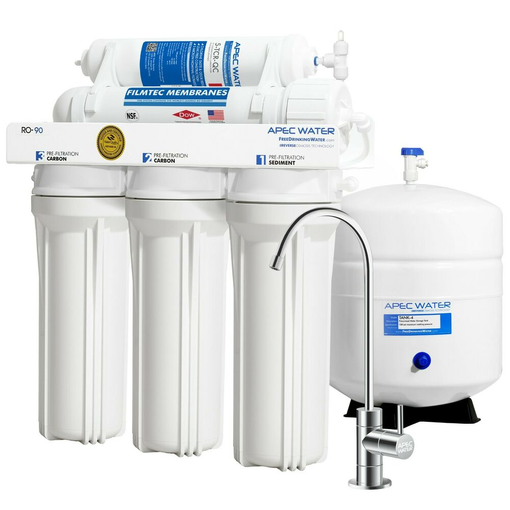 Apec 5 Stage 90gpd High Flow Certified Reverse Osmosis