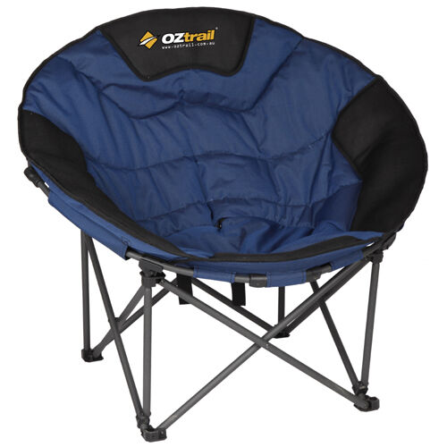 Oztrail Moon Chair Jumbo 150kg Limit Oval Round Camp