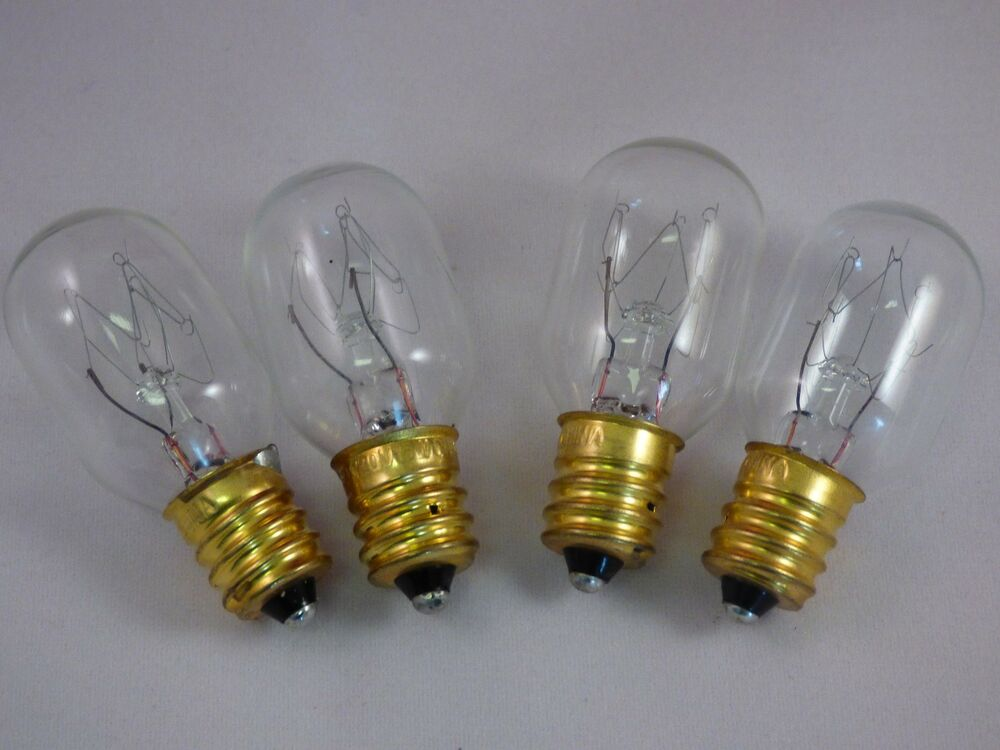 4 pack15 watt light bulbs fits plug in scentsy warmers and. Black Bedroom Furniture Sets. Home Design Ideas