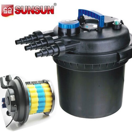 5000 gal pressure bio filter w 18w uv sterilizer light for Fish pond filter uv light