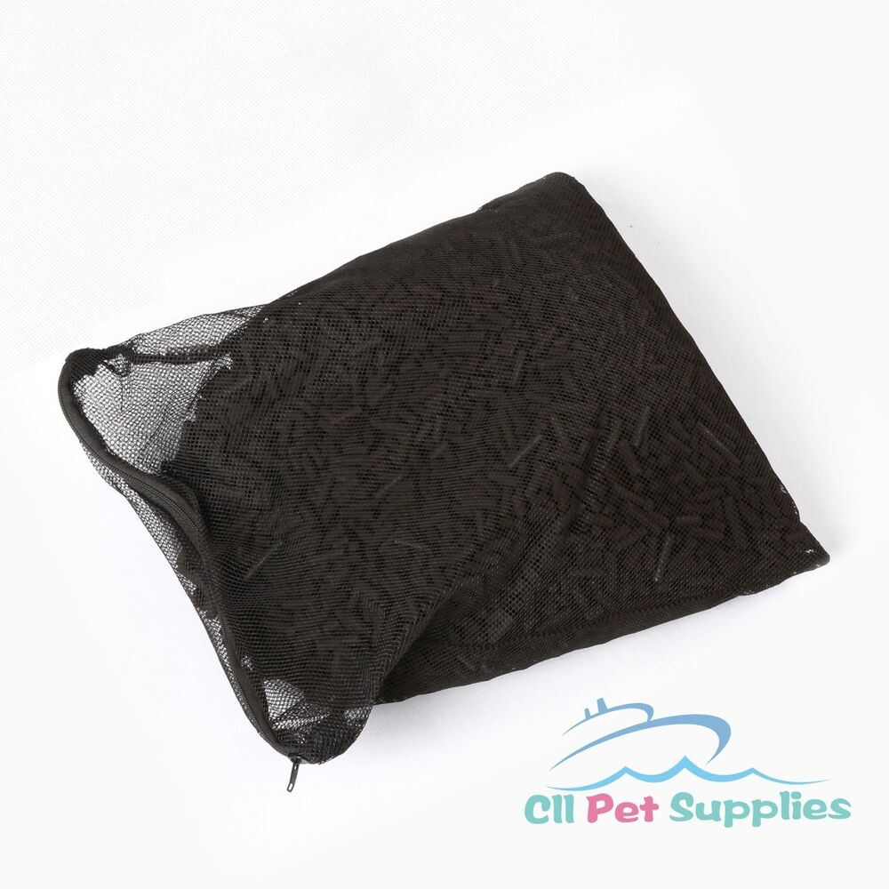 Activated carbon in media bag for aquarium fish koi pond for Charcoal pond filter