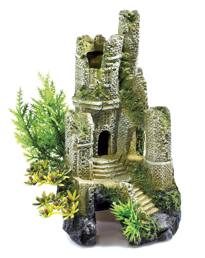 Aquarium castle fish cave ruin decoration artificial for Aquarium decoration ornaments