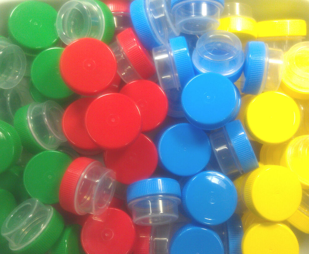 20 Jars 1 Tsp Plastic 1 4oz Container Red Blue Yellow