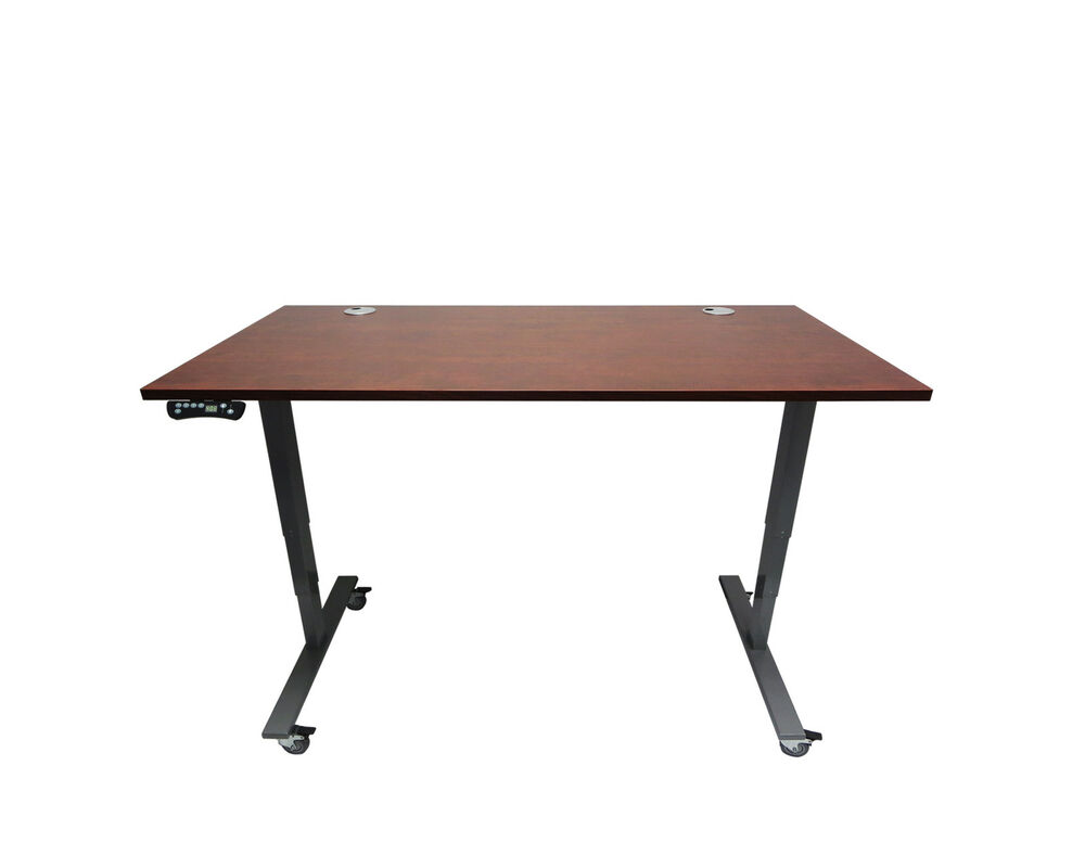 Electric Height Adjustable Desk With Laminate Top 3 Colors