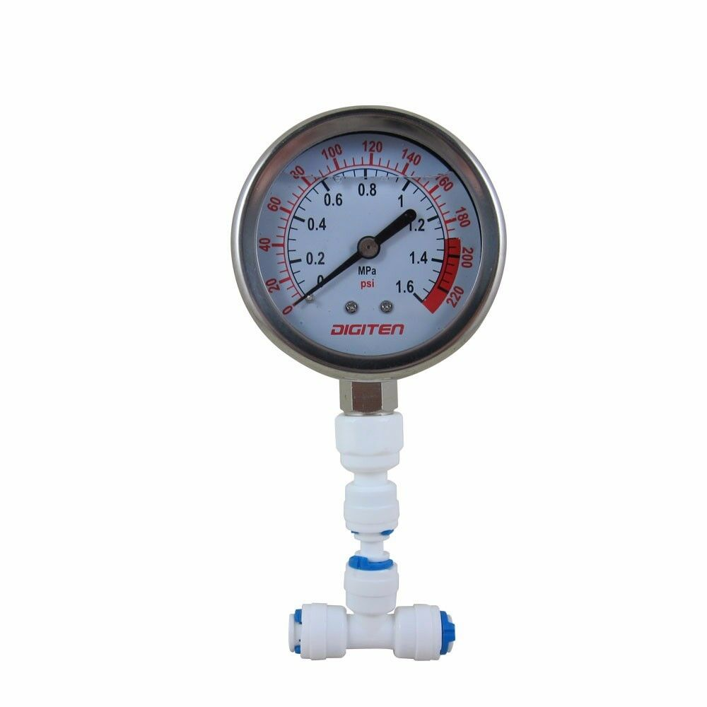 1 4 water pressure gauge meter 0 1 6mpa 0 220psi f reverse osmosis system pump ebay. Black Bedroom Furniture Sets. Home Design Ideas