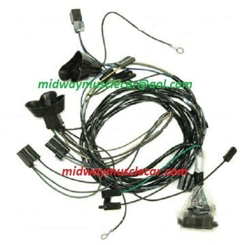 front end headlight lamp wiring harness 66 Pontiac GTO ...