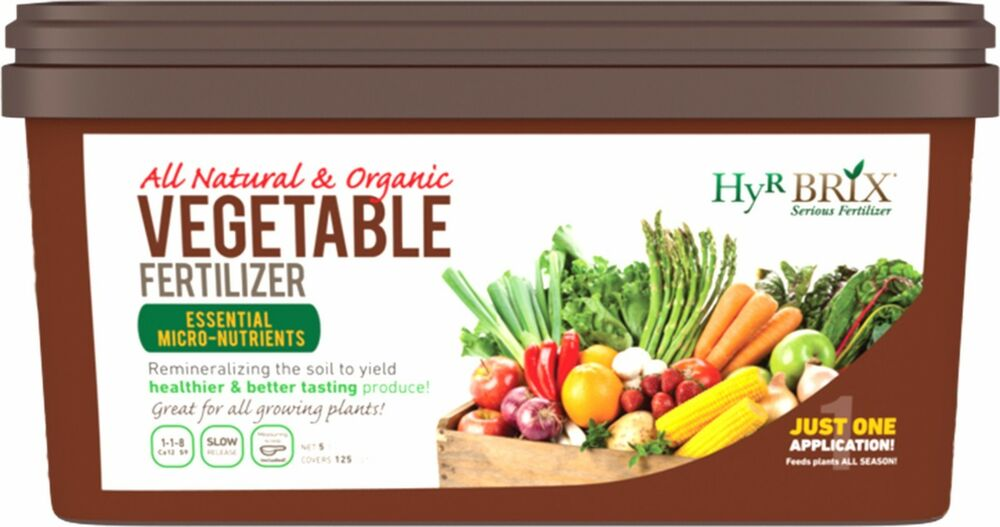 Fertilizer Hyr Brix All Natural Organic Vegetable Fertilizer 5 Lb Ebay