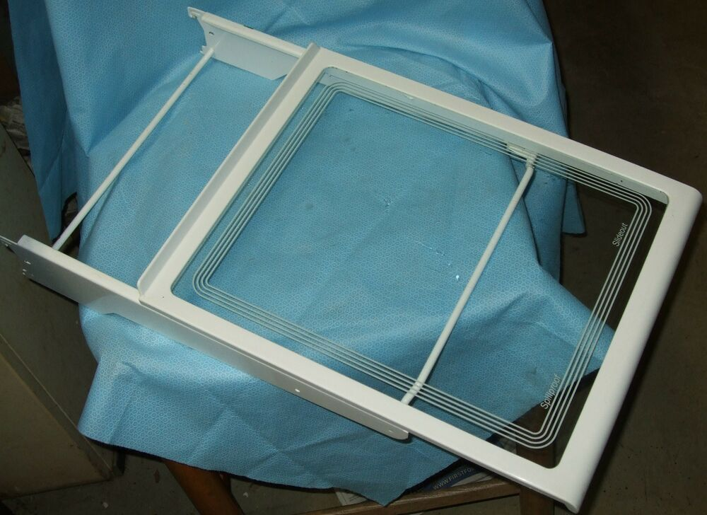 Ge Hotpoint Refrigerator Spill Proof Slide Out Glass Shelf