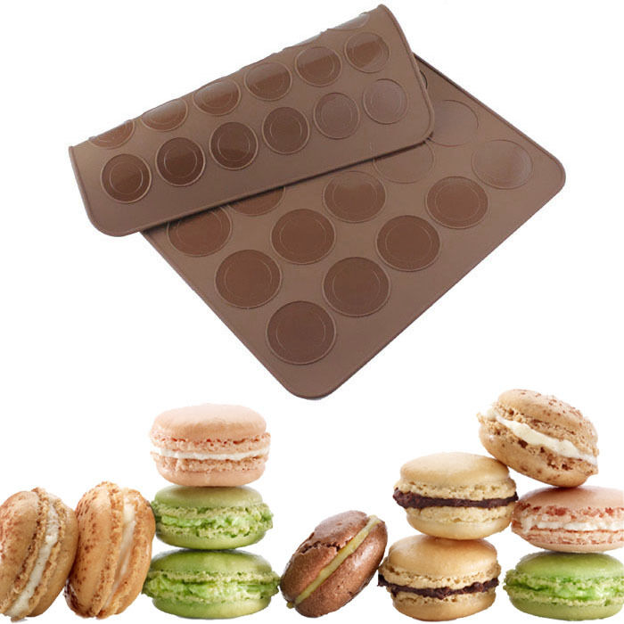 Double Sided Macaroon Silicone Macaron Cake Mould Bakeware ...