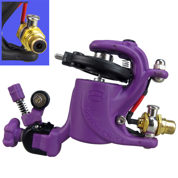 New rotary tattoo machine gun full adjustable from hard to for Tattoo gun parts