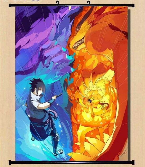 Naruto Itachi Uzumaki Sasuke Wall Poster Scroll Home Decor