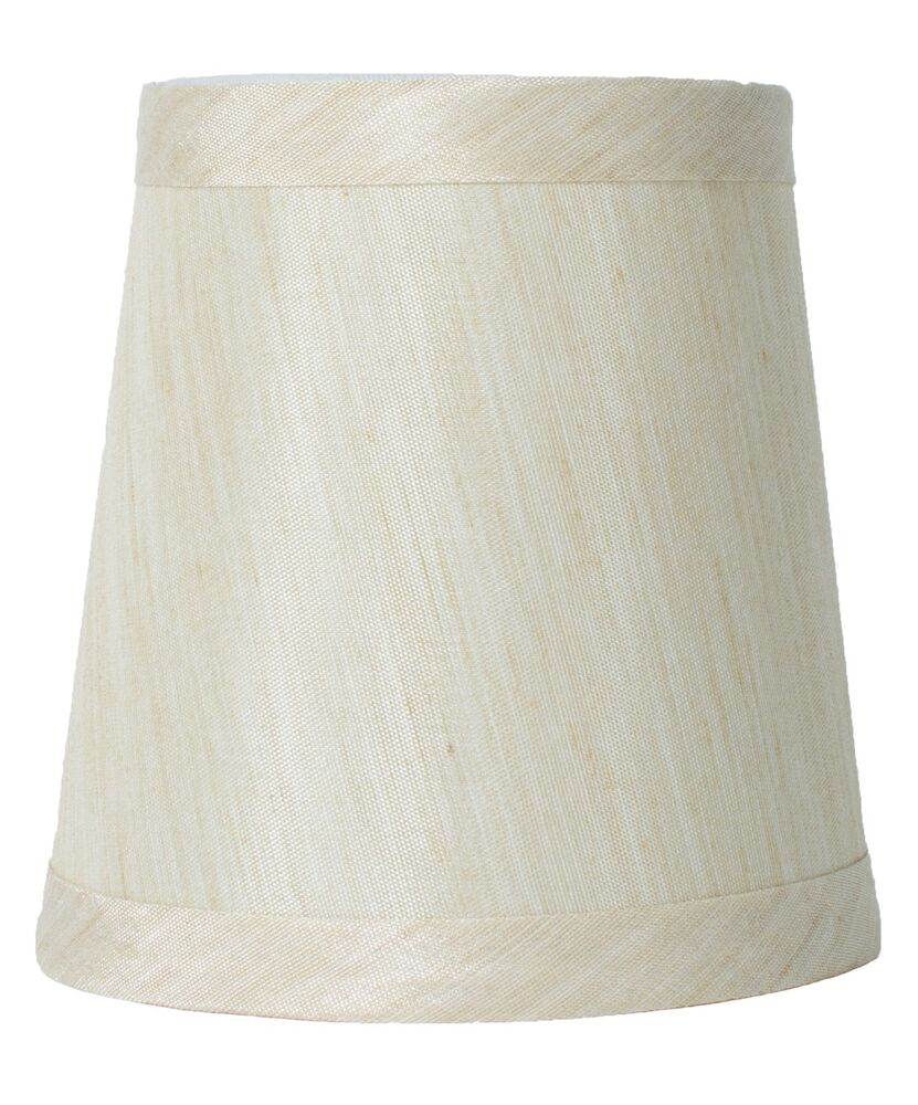cream mini chandelier lamp shade 4 inch hardback clip on ebay. Black Bedroom Furniture Sets. Home Design Ideas