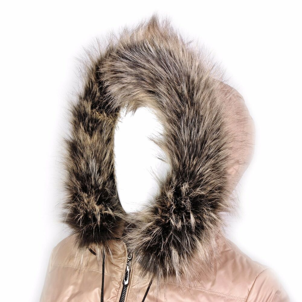 Futrzane Trim Hood Faux Fake Fur Hood Winter For Jacket
