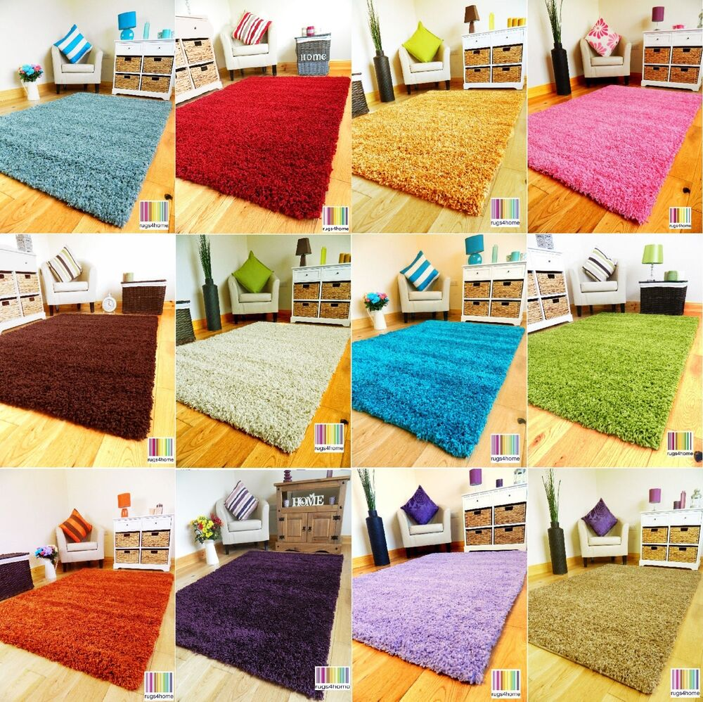 small bedroom rug small xx large thick soft modern plain shaggy pile area 13265
