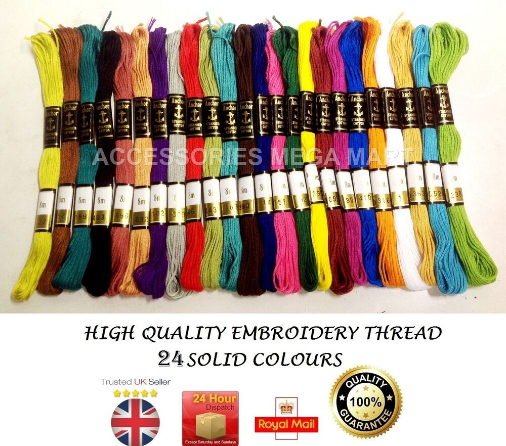 Anchor cotton thread solid floss skeins most demanding