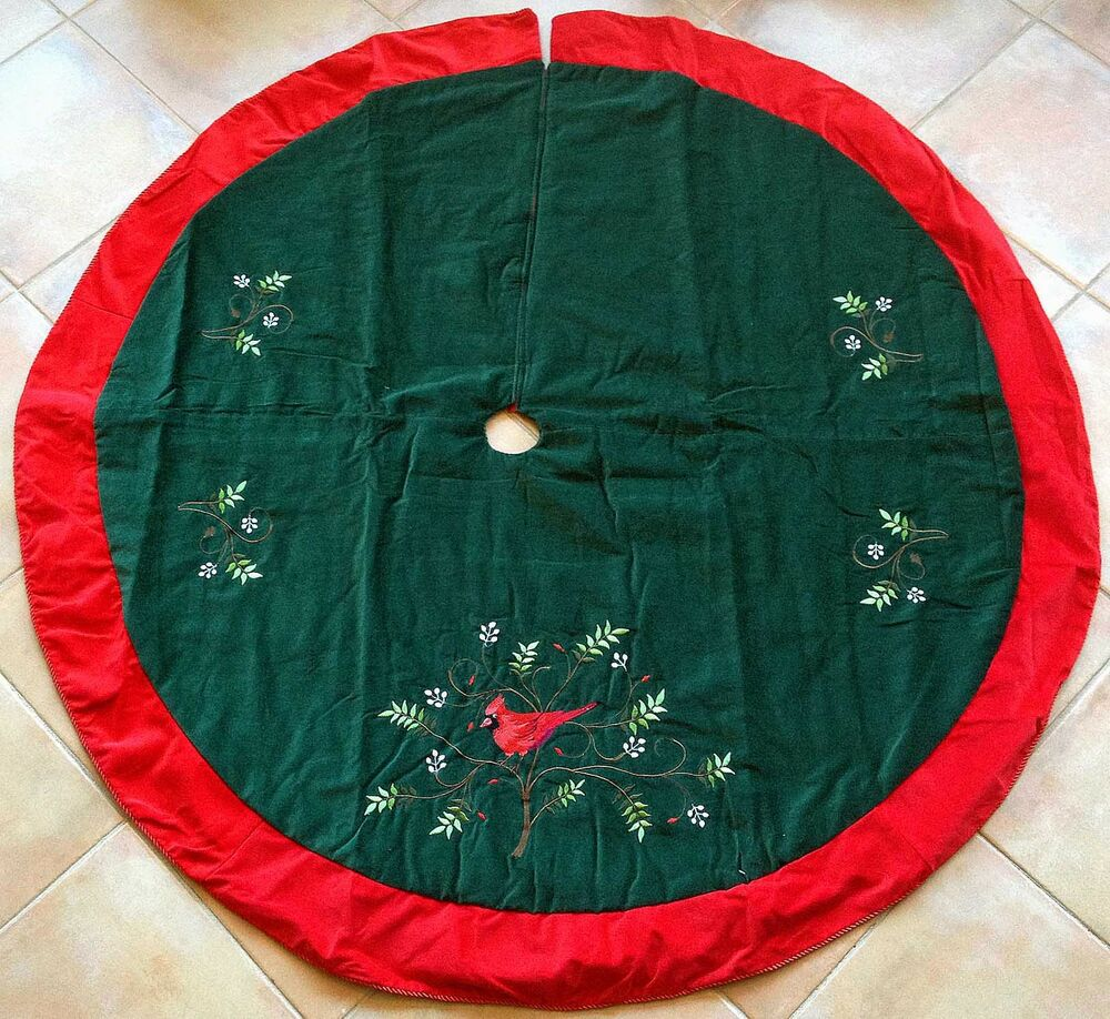 Christmas tree skirts cardinal skirt