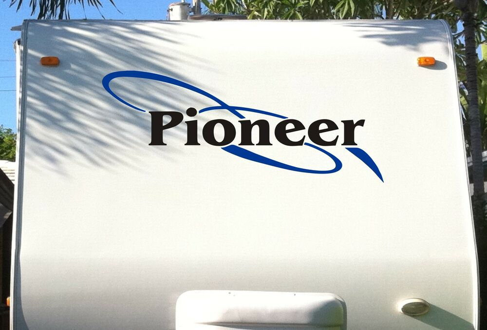 Fleetwood pioneer decal decals sticker rv trailer stickers for Decals for rv mural
