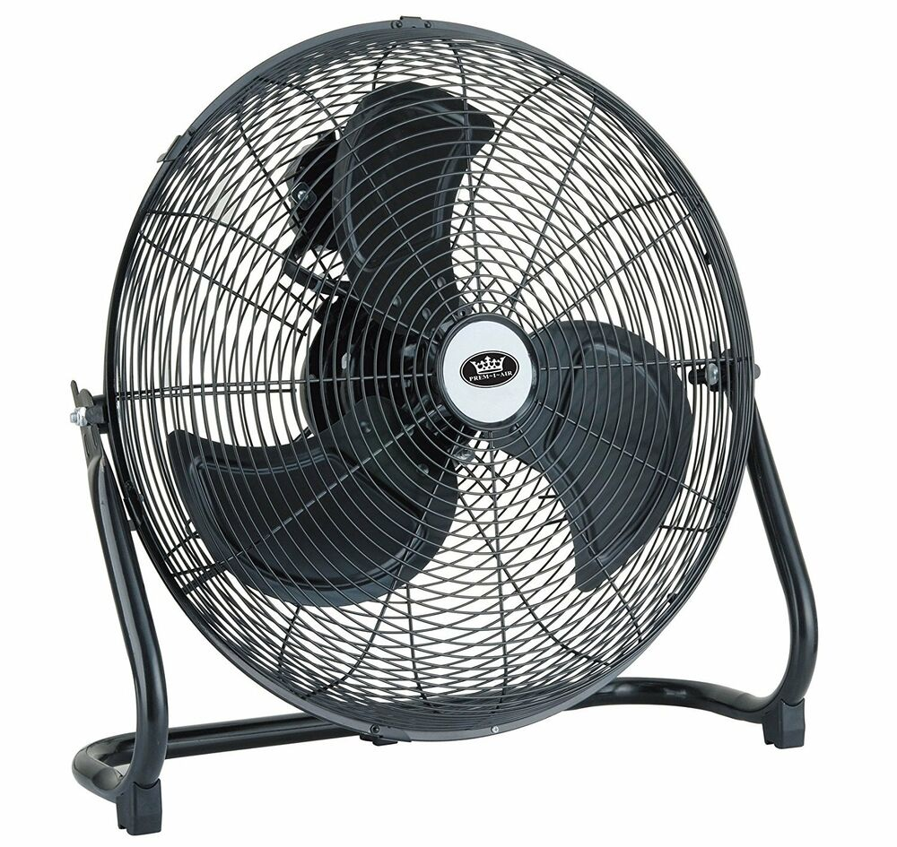 Millen i air 18 chrome black high velocity air for Air circulation fans home
