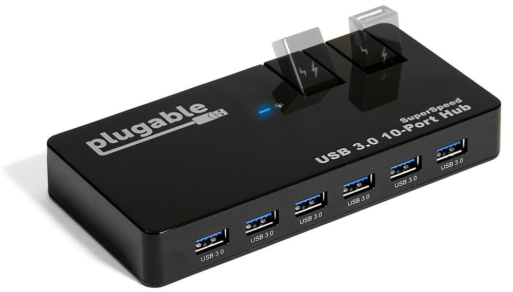 Plugable usb 3 0 10 port 48w hub usb3 hub10c2 ebay - Plugable 7 port usb 3 0 superspeed hub ...