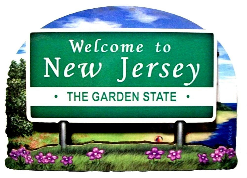 New Jersey State Welcome Sign Artwood Fridge Magnet Ebay