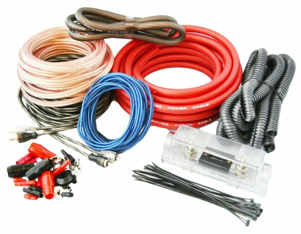 4 Gauge Amp Kit True Awg Amplifier Install Wiring 4 Ga Complete Cable  3500w