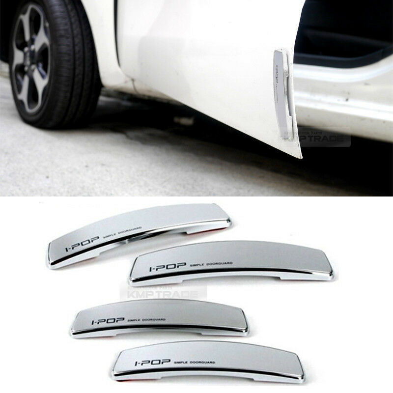 simple edge door guard bumper protector silver color for