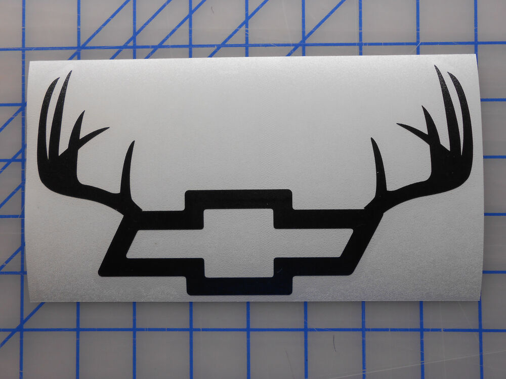 Chevy Antlers Emblem Sticker Decal 55 75 11 Off Road Bowtie