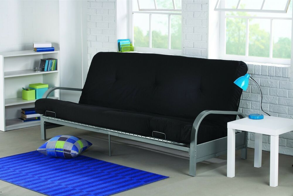 Futon sofa bed with mattress modern convertible sleeper Loveseat futon cover