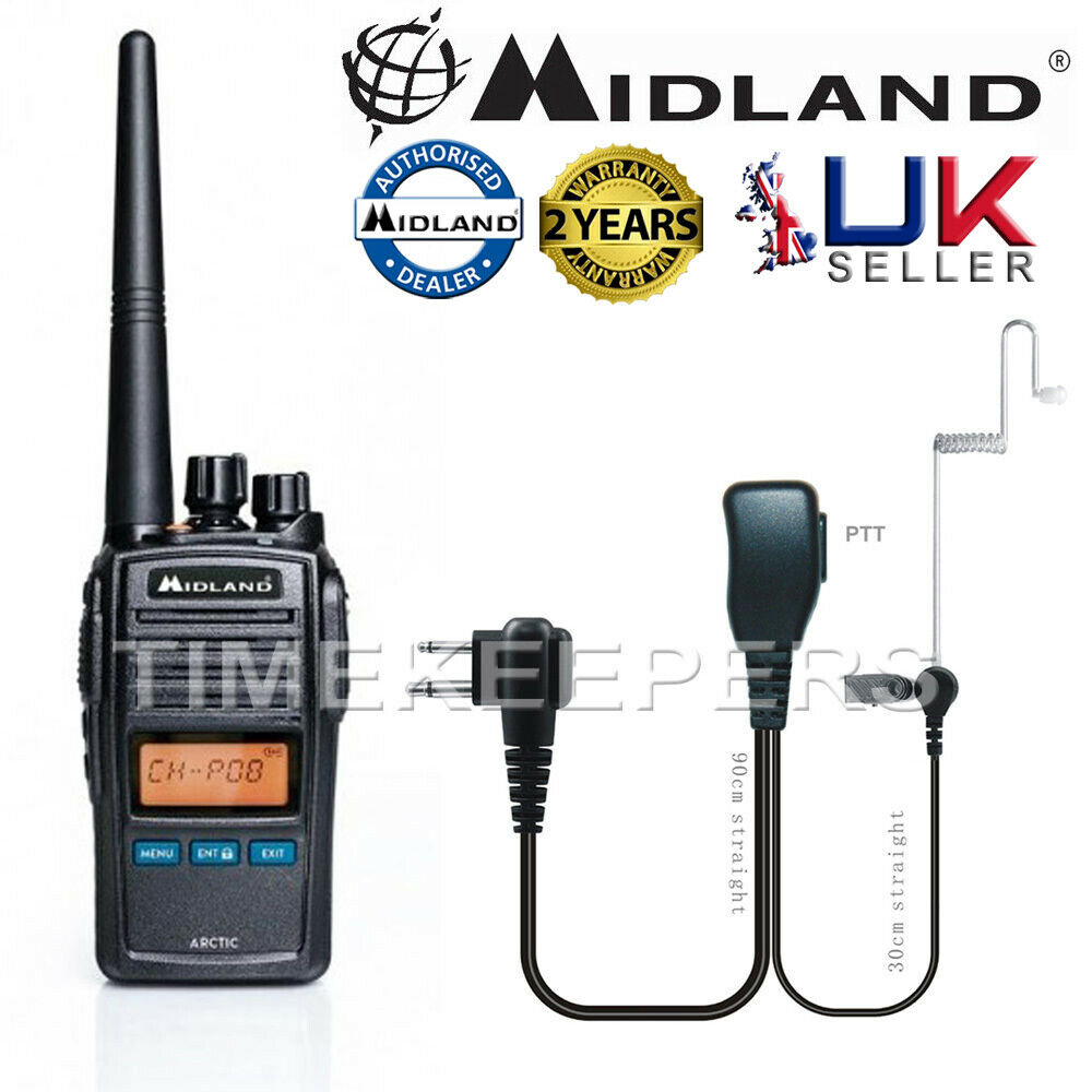 midland arctic black vhf handheld marine lcd radio kit for boat vessel yacht ebay. Black Bedroom Furniture Sets. Home Design Ideas