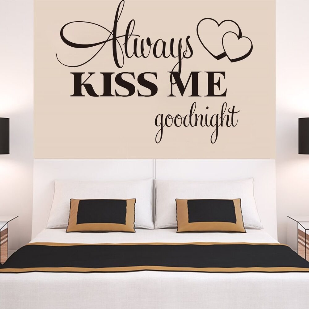 Always Kiss Me Goodnight English Words Wall Stickers Decal. Overstock Dining Room Sets. Menards Living Room Furniture. Sun Rooms. Dressing Room Lights. Modern Dining Room Tables. Buddha Statues Home Decor. Fireplace Decorating Ideas Photos. Cuban Decorating Style