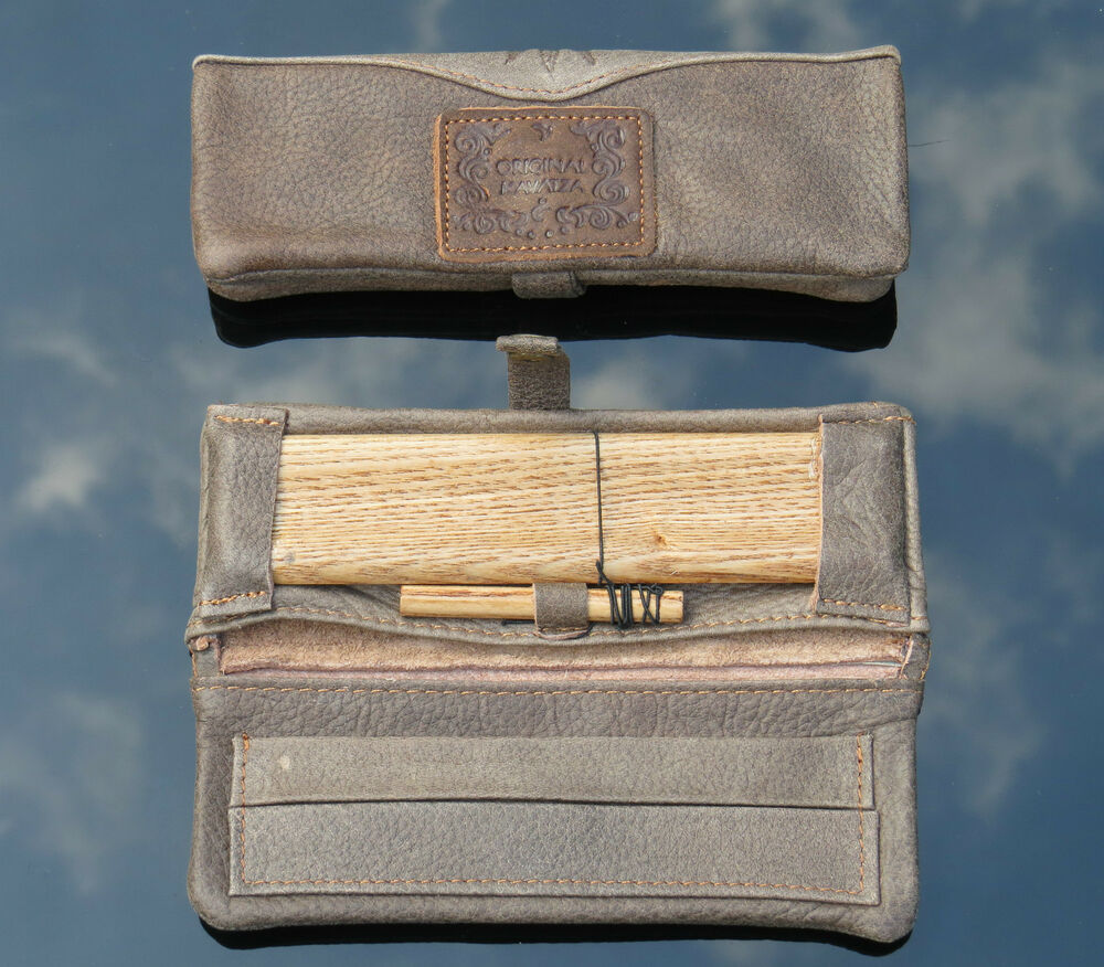 Original Kavatza Deluxe Leather Rolling Pouch Kits