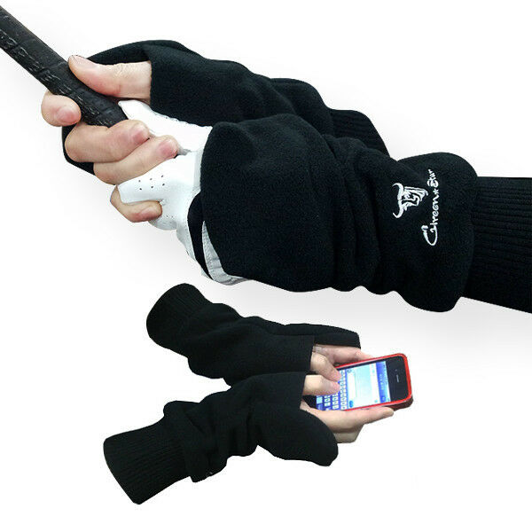 winter golf Mittens Gloves Hand warmers free finger touch