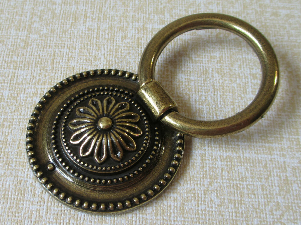 vintage look dresser knob pulls drawer pull knobs ring 87994