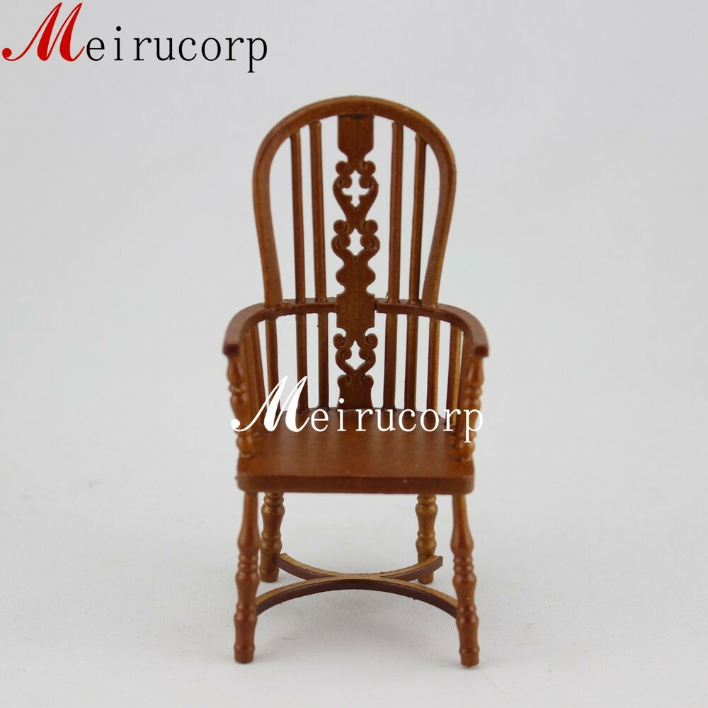 Fine 1 12 Scale Dollhouse Miniature Furniture Wooden Handmade Collectible Chair Ebay