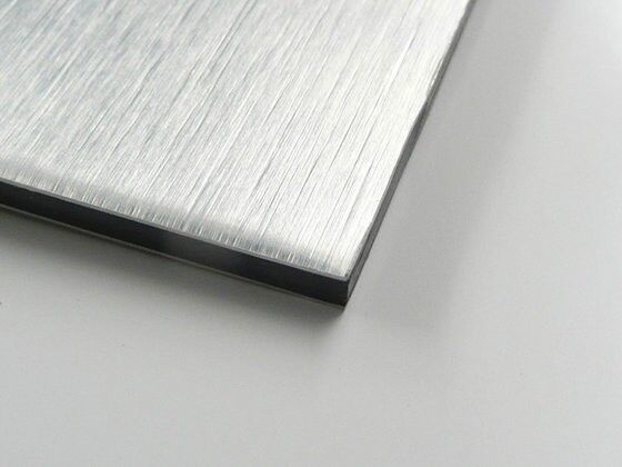 3mm 8ft x 4ft 1220m x2440mm brushed silver aluminium composite sheet acm ebay. Black Bedroom Furniture Sets. Home Design Ideas