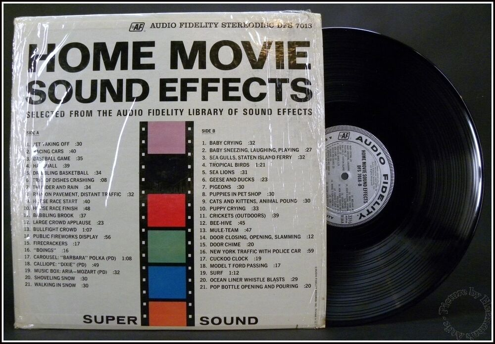 Home Movie Sound Effects Audio Fidelity Stereodisc Dfs