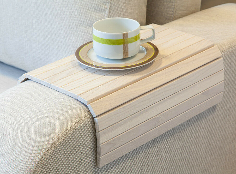 sofa tray table white tv tray wooden coffee table lap desk for small spaces ebay. Black Bedroom Furniture Sets. Home Design Ideas