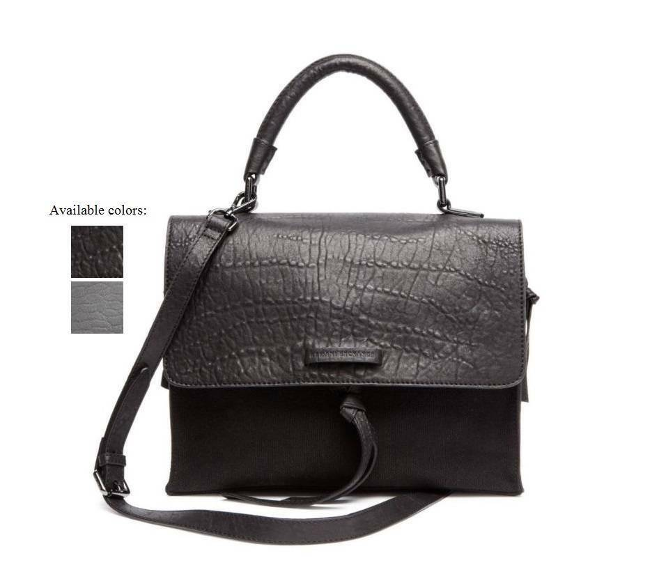new armani exchange womens mixed media shoulder bag