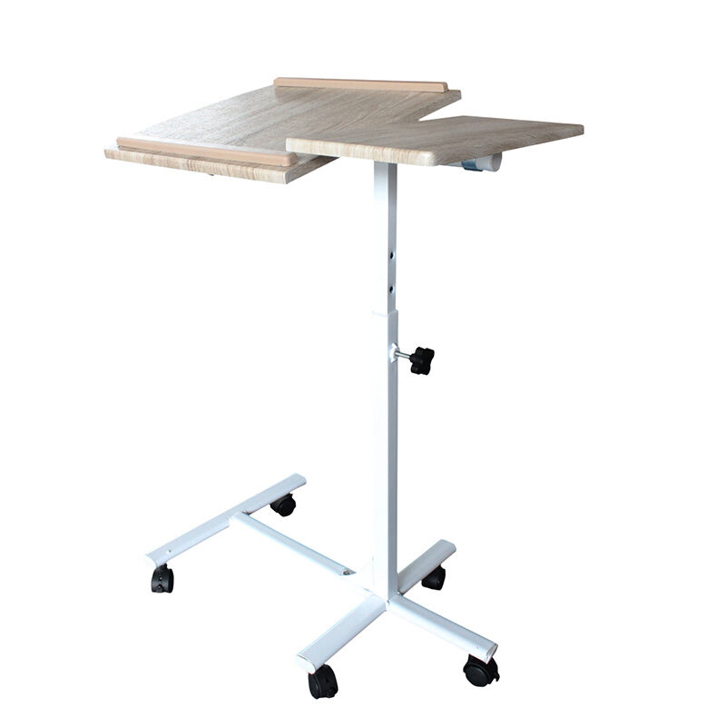 Table Stand Tray Rolling Top Bed Hospital Adjustable Laptop Desk
