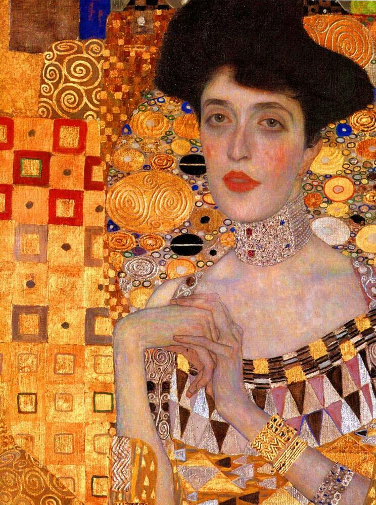 gustav klimt adele stretched canvas art poster print