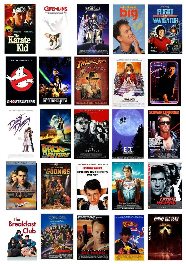 best 80s movie collection collage wall art poster images