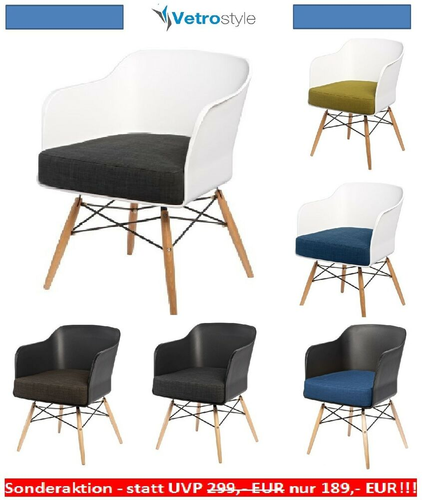 stuhl esszimmerstuehle stuehle design retro viva scandinavia vetrostyle ebay. Black Bedroom Furniture Sets. Home Design Ideas