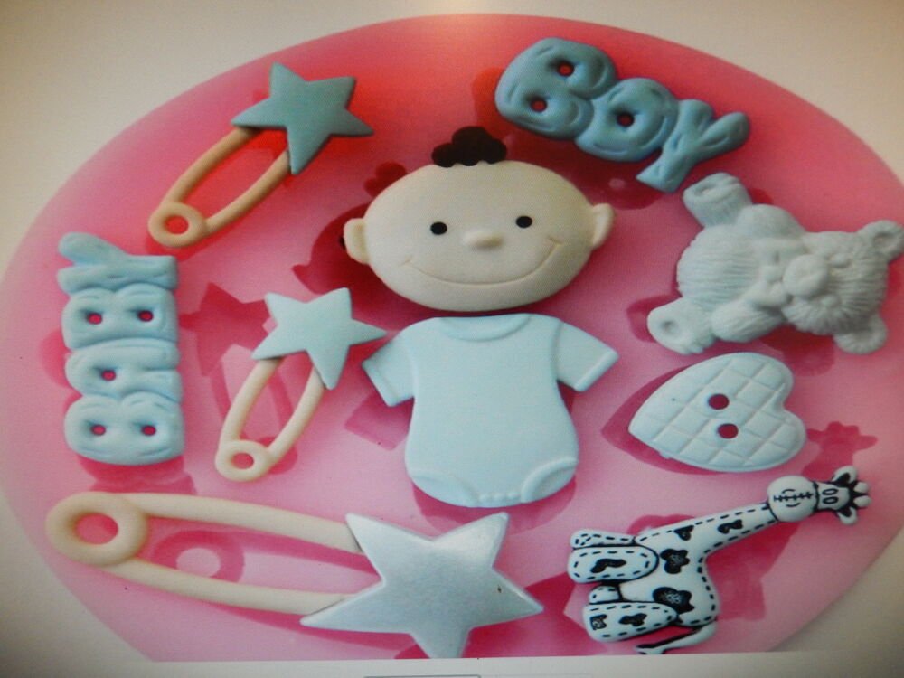 Fondant Cake Molds Uk : Baby Boy silicone Christening cake mould fondant candle ...