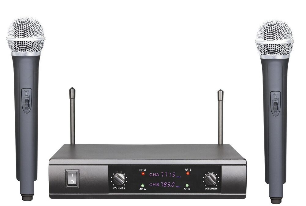 professional wireless dual microphone system w shure wireless ut4 type new ebay. Black Bedroom Furniture Sets. Home Design Ideas