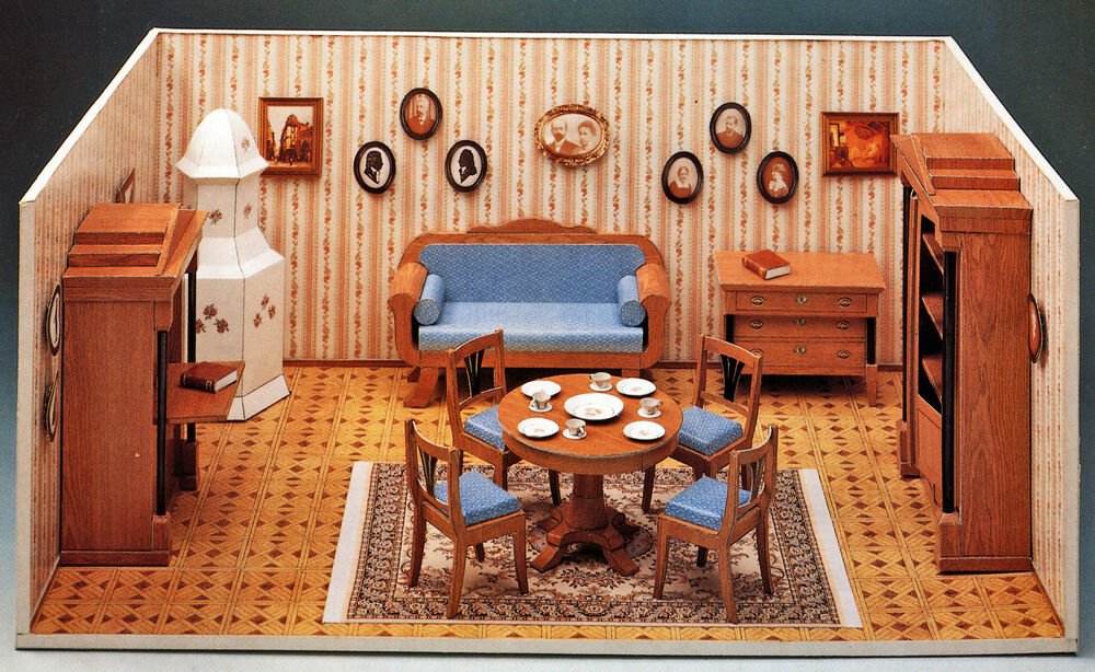 biedermeier puppenstube 1 12 m bel zubeh r bastelbogen j f schreiber dollhouse ebay. Black Bedroom Furniture Sets. Home Design Ideas