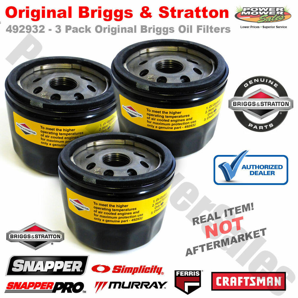 briggs and stratton oil filters 3 pack 696854 695396. Black Bedroom Furniture Sets. Home Design Ideas